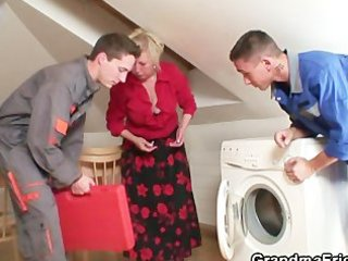wicked granny pleases two repairmen