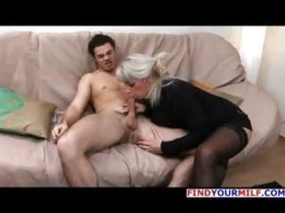 aged blond russian elena blows his ramrod and