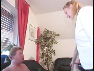 wife and her friend blow her spouse
