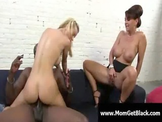 Mom going black - Busty milf interracial oral sex