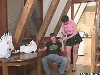 naughty mother in law jumps on his penis