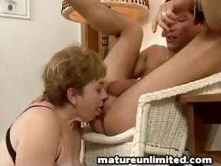 horny older slut engulfing and fucking