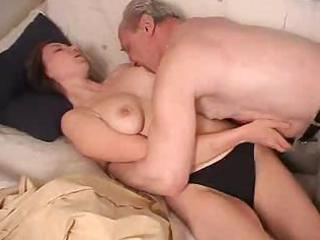 russian hotty drilled by grandfather