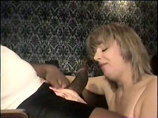 swinger wife eating the large black dick -