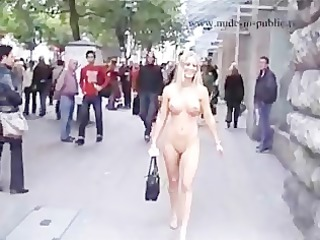 hawt golden-haired undressed in public part4