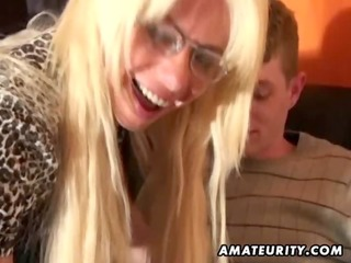 juvenile dilettante boy enjoys a nasty breasty d