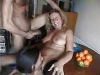older bitches love three-some admirable group sex