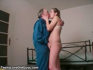 old perverted stud loves kissing touching part8