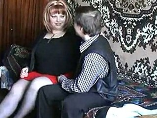 russian older redhead fucking with a lad