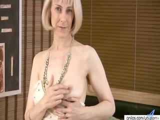 bushy older masturbation with beads