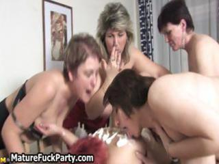 group of sexually excited lesbo aged sweethearts