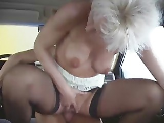 hot sex going through the car wash
