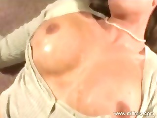 blond masturbates and squirts previous to going
