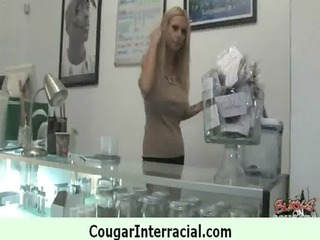 cougar pounce on dark dick 0