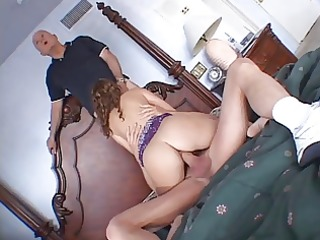 cute wife gets screwed hard by mature studs in
