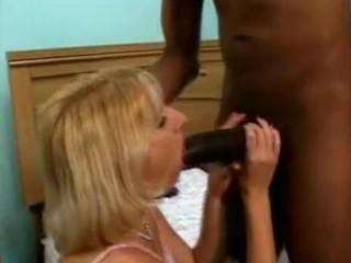bored wife tries 62 inches of darksome knob
