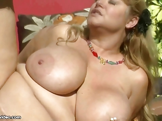 hawt big tit big beautiful woman milf bonks hunk