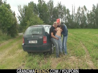 granny is double drilled outdoors