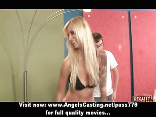 hawt blonde fucking and doing blowjob for