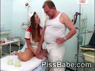 nasty nurse carmen collins shares make water with