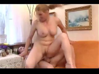 mature hot mom with youthful fella