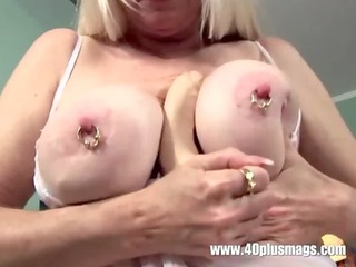 blonde older large pierced wobblers and cookie
