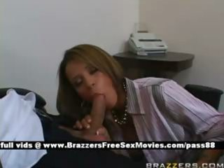 mature redhead wench at work receives a oral job