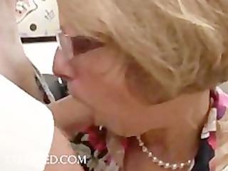 joy scene with aged babe in glasses hardcore
