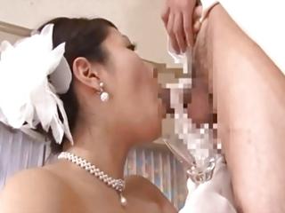 aged brides drinking cum