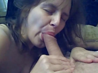 older wife fucks sucks and swallows !