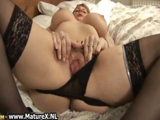 large mounds older with dark nylons