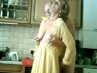 granny gets fingered by her old stud