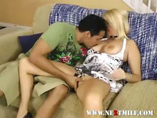 golden-haired mother i giving dude weenie oral sex