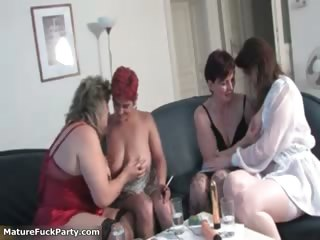 Horny group of mature women having sex part2