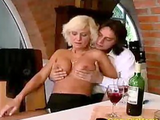 insane old mommy acquires fucked hard in bawdy