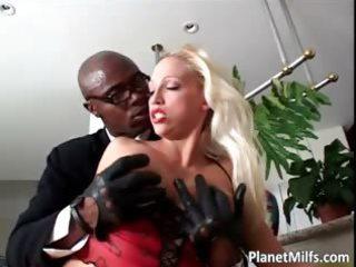 concupiscent blonde fur pie pierced milf