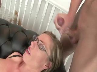 older femdom handjob spunk fountain