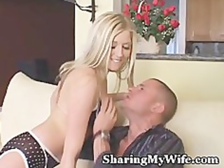 lingerie wife is cum juicy by new lover
