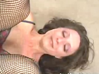 brunette receives arse drilled whilst a sex-toy