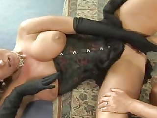 charming lesbians give a meaty fist fucking