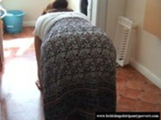 Upskirt british granny lets me sniff her knickers