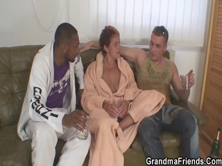 nasty granny takes 4 dongs at one time