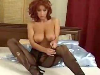 ashley robbins tearing up nylons