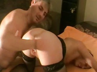 brutally fisting the wifes loose cum-hole