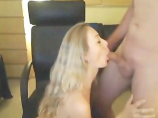 golden-haired milf drilled on livecam and gets a