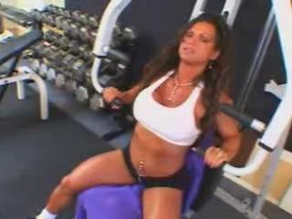 hot older busty brunette hair bodybuilder