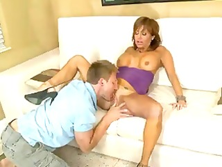 bigtit latin babe cougar milks a wang