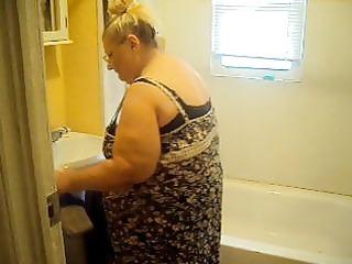 cleaning in dark pants