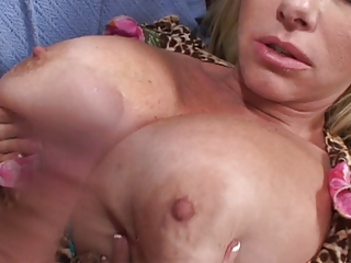 breasty golden-haired aged bonks and gets a facial