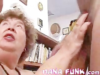 nana showing how to blows cock